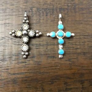 Cross pendants lot of two